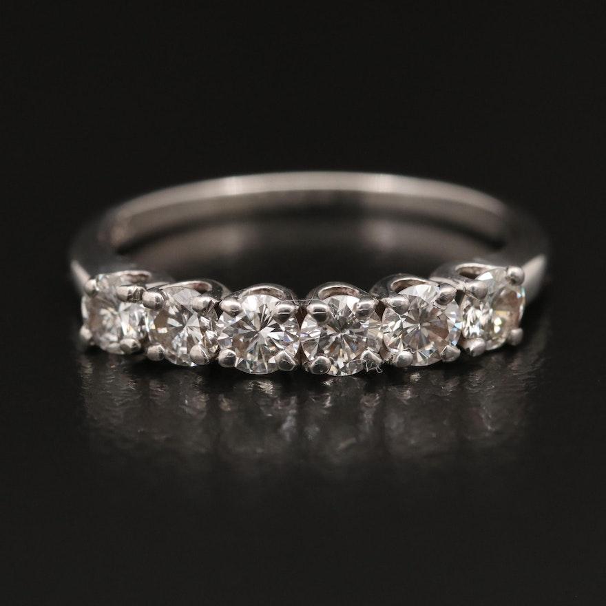 14K Diamond Band with Palladium Settings