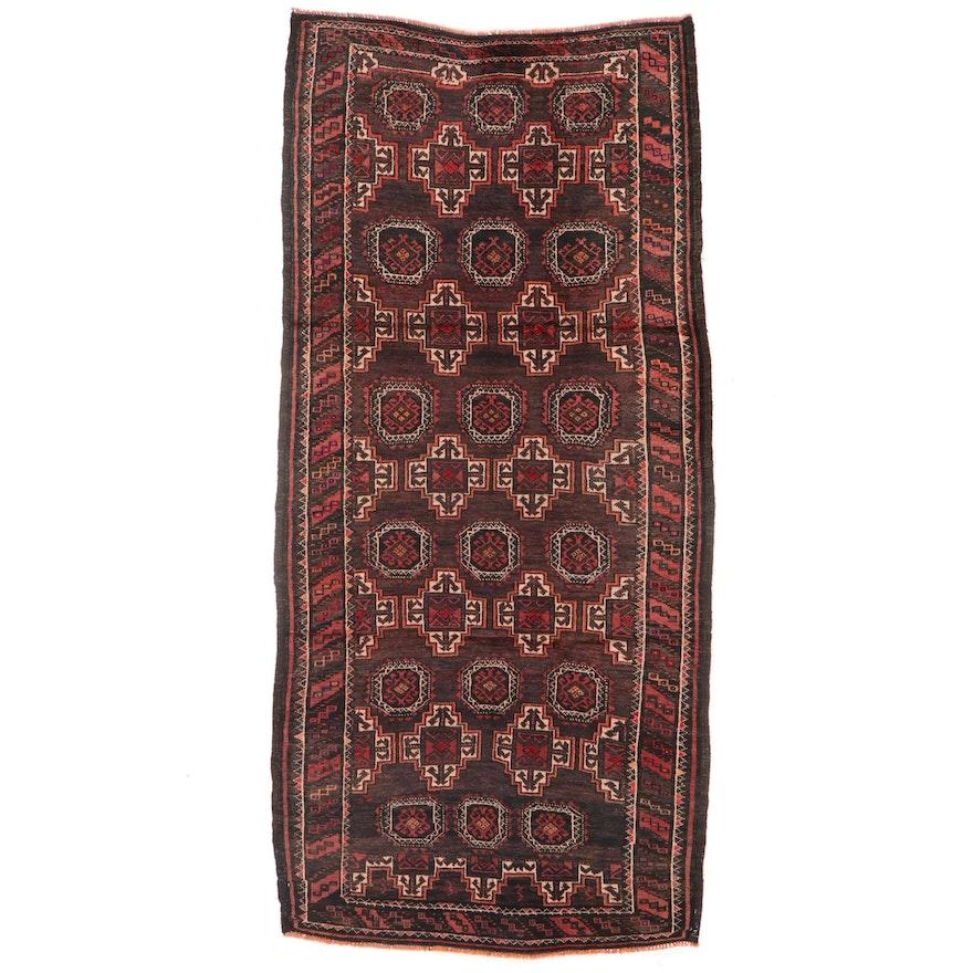 4' x 8'4 Hand-Knotted Afgan Baluch Carpet Runner