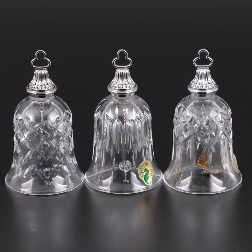 """Waterford """"Twelve Days of Christmas"""" Crystal Bell Ornaments"""