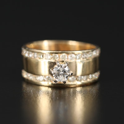 14K 1.03 CTW Diamond Double Row Ring