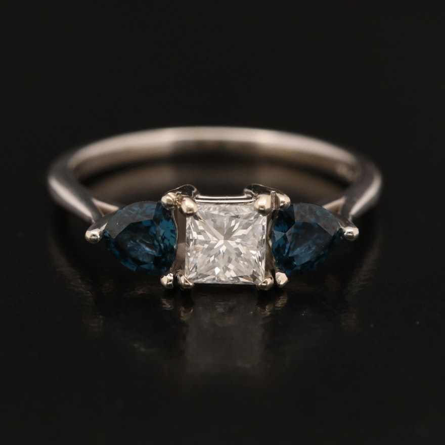 14K Diamond and Sapphire Band