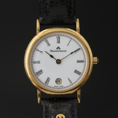 18K Maurice Lacroix with Date Quartz Wristwatch