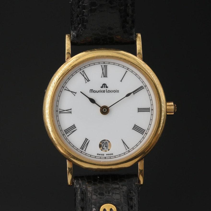 18K Maurice Lacroix with Date Quartz Wristwatch