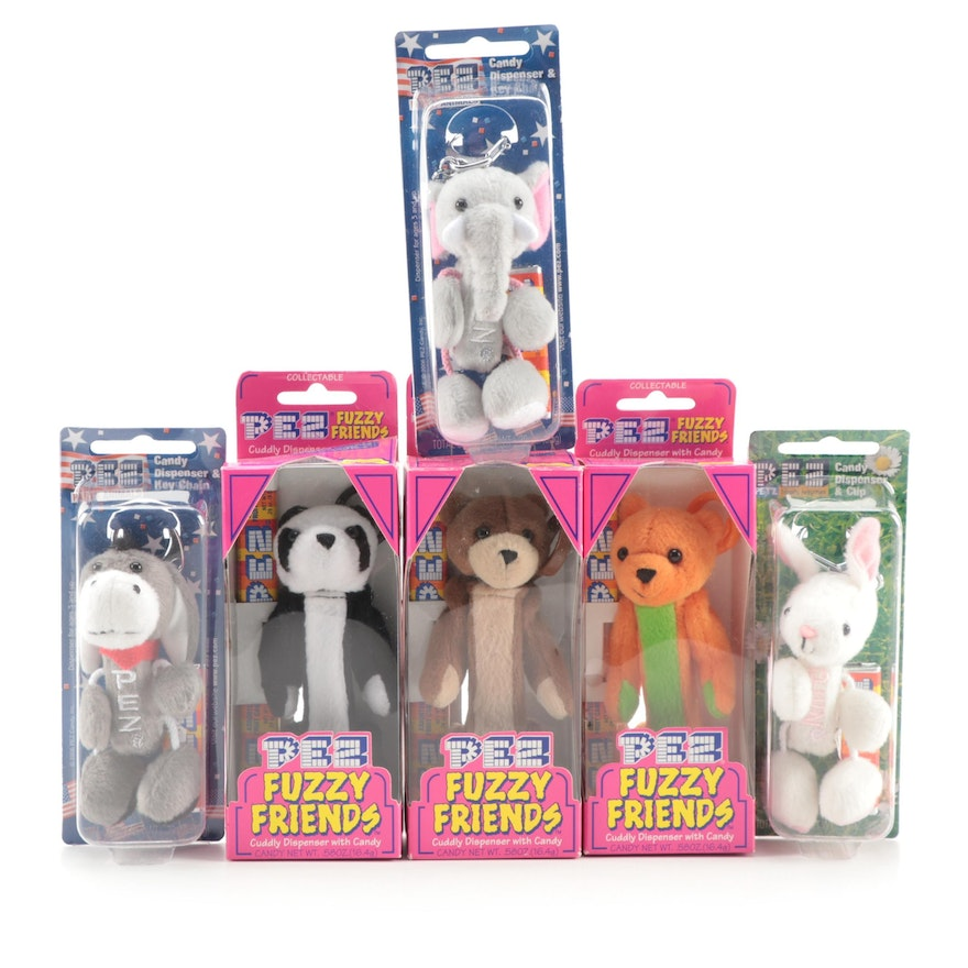 """PEZ """"Fuzzy Friends"""", """"Party Animals"""" and """"Hippity Hoppities"""" Dispensers"""