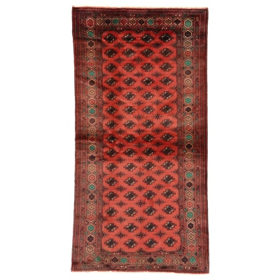 4' x 8' Hand-Knotted Afghan Baluch Wool Long Rug
