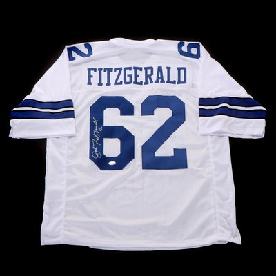 John Fitzgerald Signed Dallas Cowboys Replica Football Jersey, JSA COA