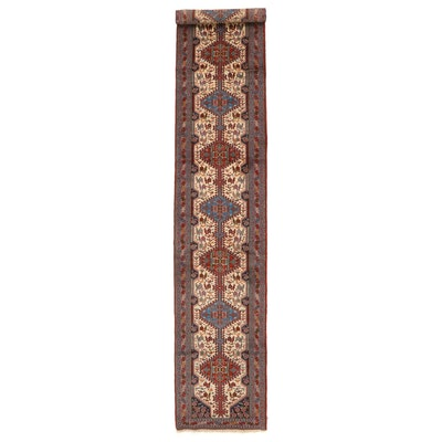 3'2 x 18'9 Hand-Knotted Persian Luri Wool Long Rug