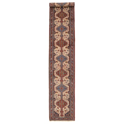 5'2 x 18'4 Hand-Knotted Persian Luri Wool Carpet Runner