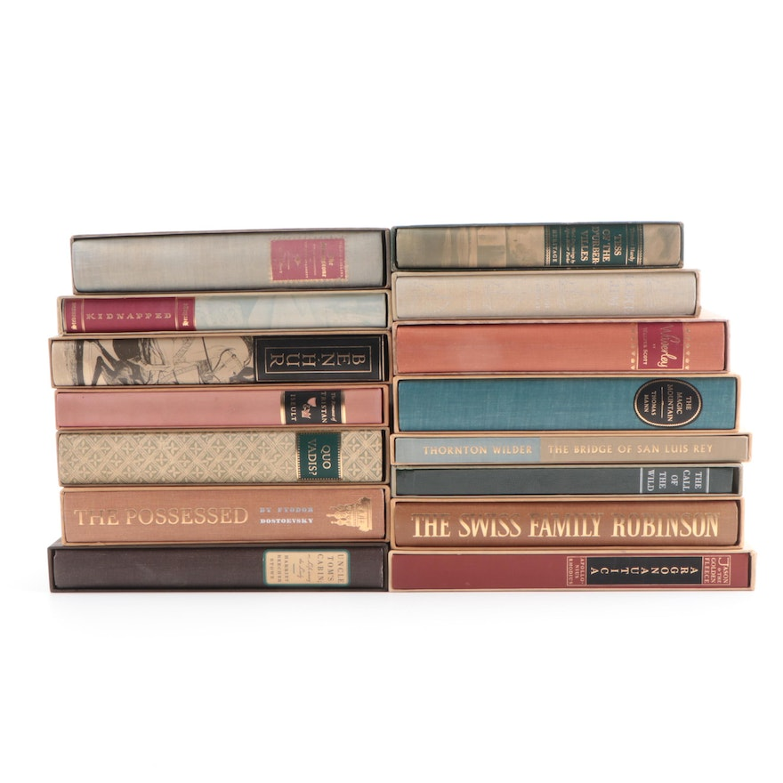 Heritage Press Fiction and Poetry Books Including Dostoevsky and Mann