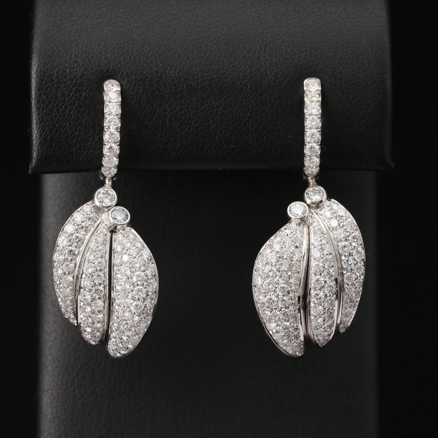 18K 3.91 CTW Diamond Drop Earrings
