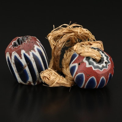 Antique Venetian Seven Layer Chevron Trade Beads