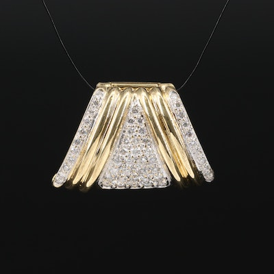 14K Diamond Enhancer Pendant