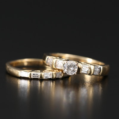 14K Diamond Ring Set