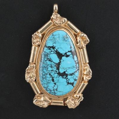 Western Style Turquoise Pendant