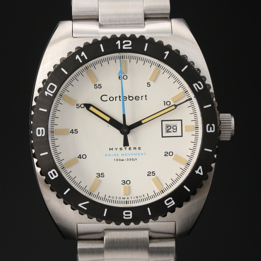 """Cortebert """"Mystère"""" Limited Edition Stainless Steel Automatic Wristwatch"""