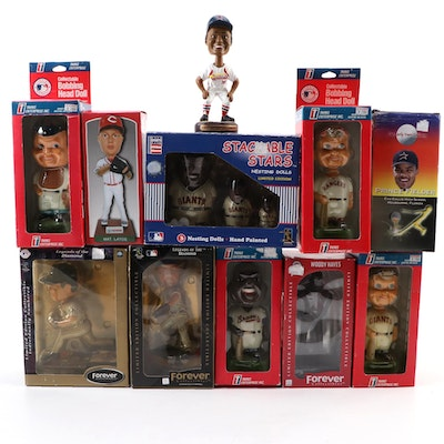 MLB and Football Bobbleheads and Nesting Dolls