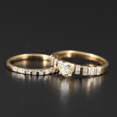14K Diamond Ring Set