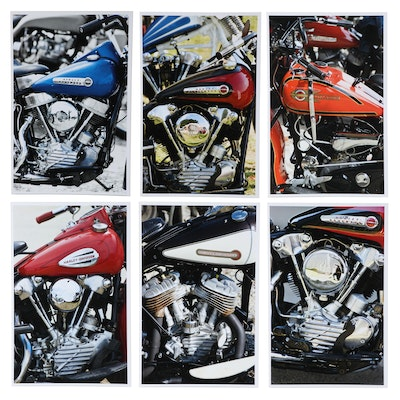 Jerry Irwin Offset Lithographs of Harley Davidson Motorcycles