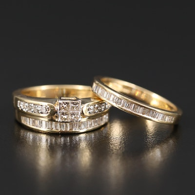 14K 1.50 CTW Diamond Ring and Band Set