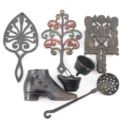 JZH Alphabet Series with Other Cast Iron Trivets and  Decorative Accents