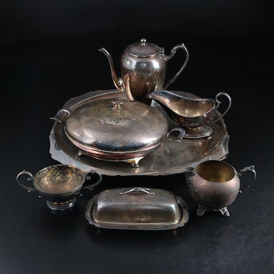Mullholland, Academy and others Silver Plate Serving Ware
