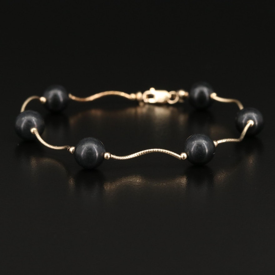 14K Serpentine Station Bracelet
