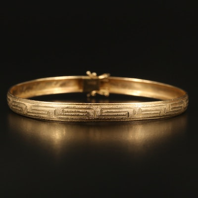 10K Greek Key Bangle