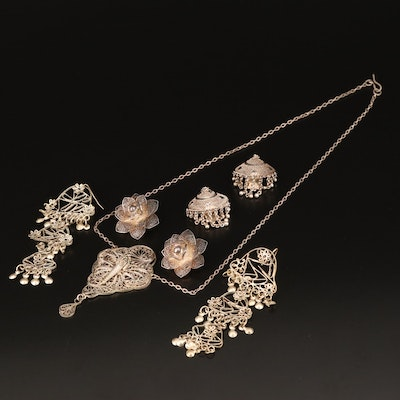 Filigree Necklaces and Earrings