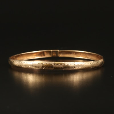 10K Hinged Bangle