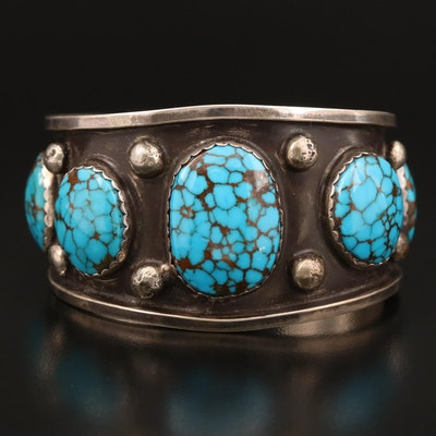 Western Style Sterling Turquoise Cuff