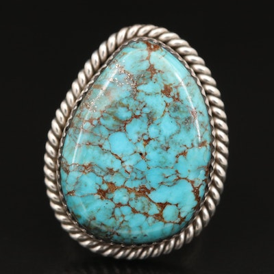 Robert Nofchissey Navajo Diné Sterling Turquoise Ring