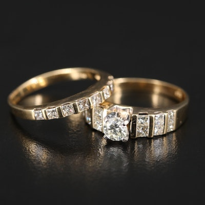 14K 1.54 CTW Diamond Multi-Row Ring Set