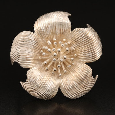 Tiffany & Co. Sterling Dogwood Blossom Brooch
