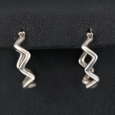 Paloma Picasso for Tiffany & Co. Sterling Wave Hoop Earrings