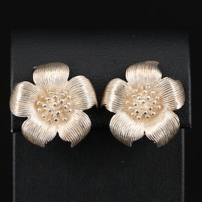Tiffany & Co. Sterling Dogwood Blossom Earrings