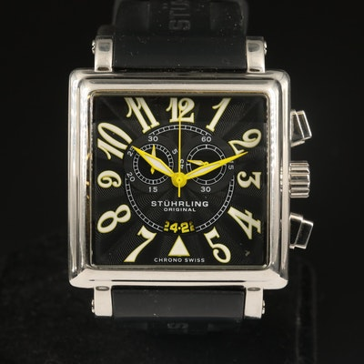 """Stührling """"Manchester Square"""" Chrono Stainless Steel Wristwatch"""