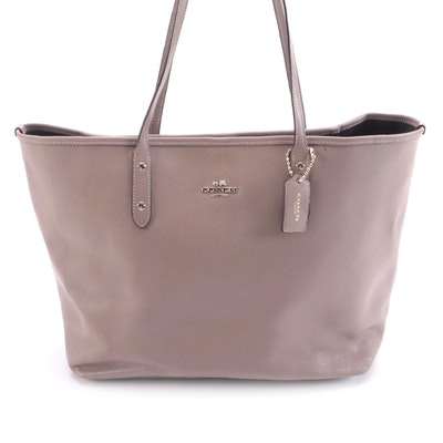 Coach Tote Bag in Taupe Cross Grain Leather