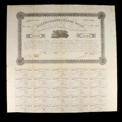 Confederate States Loan Certificate