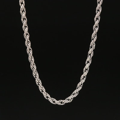 Barbara Bixby Sterling Silver Rope Chain Necklace with 18K Accent