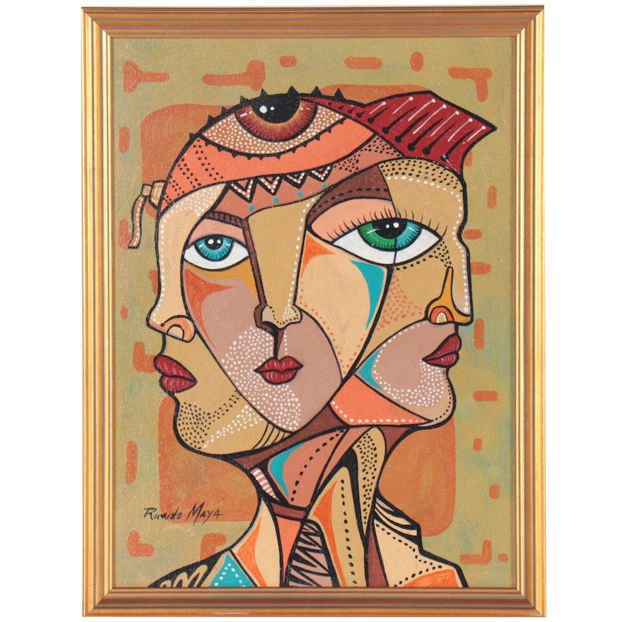 Ricardo Maya Abstract Style Acrylic Painting