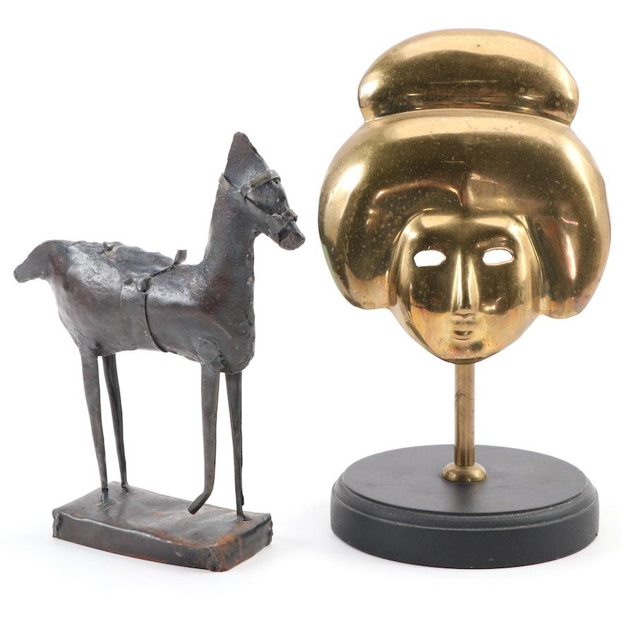 Cast Brass and Welded Metal Sculptures