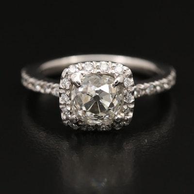 Platinum 1.52 CTW Diamond Ring