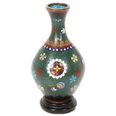 Japanese Cloisonne Enamel Vase, Early 20th Century