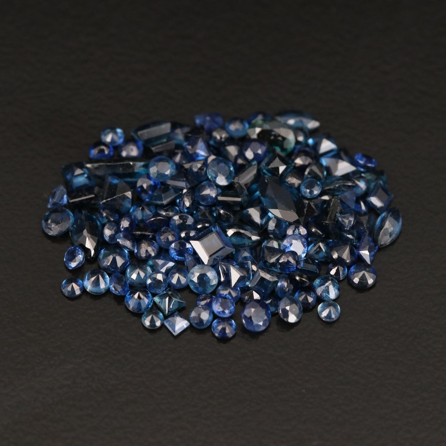 Loose 8.81 CTW Mixed Faceted Sapphires