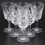 "Gorham ""King Edward"" Crystal Wine Glasses"