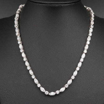 Cubic Zirconia Rivière Necklace