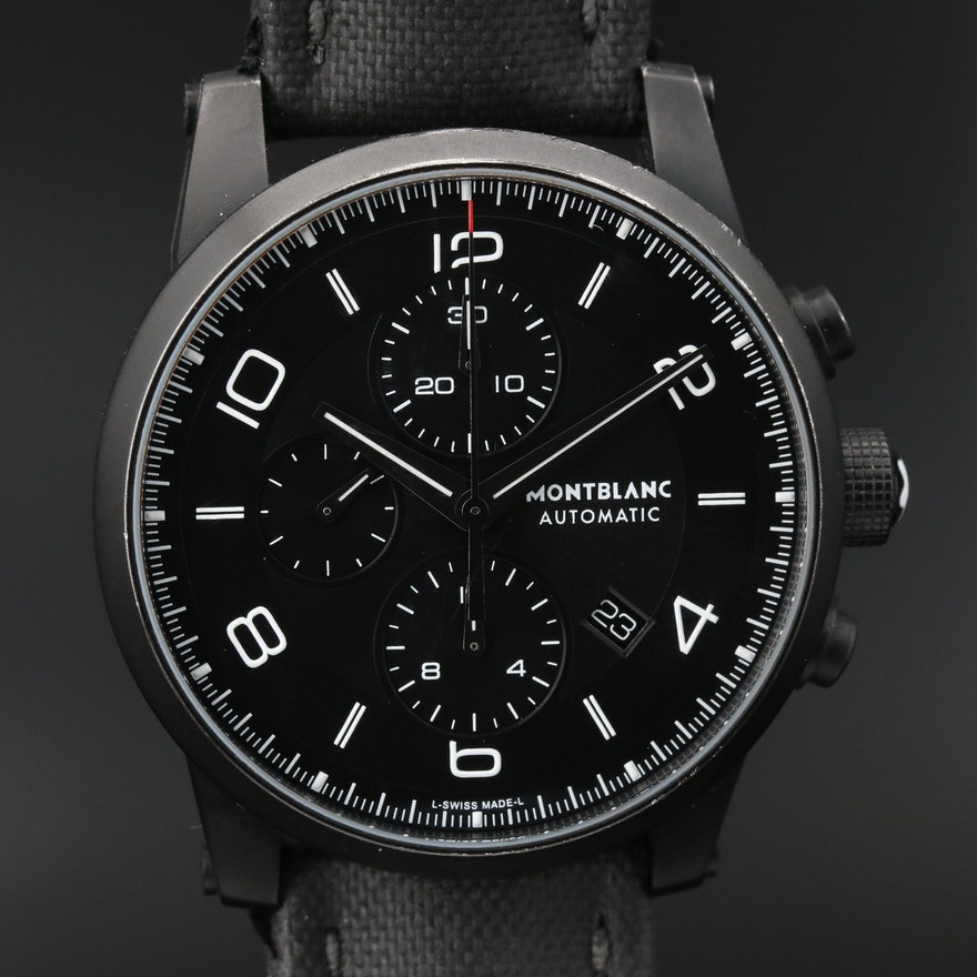 Montblanc TimeWalker Extreme Chronograph DLC Stainless Steel Wristwatch