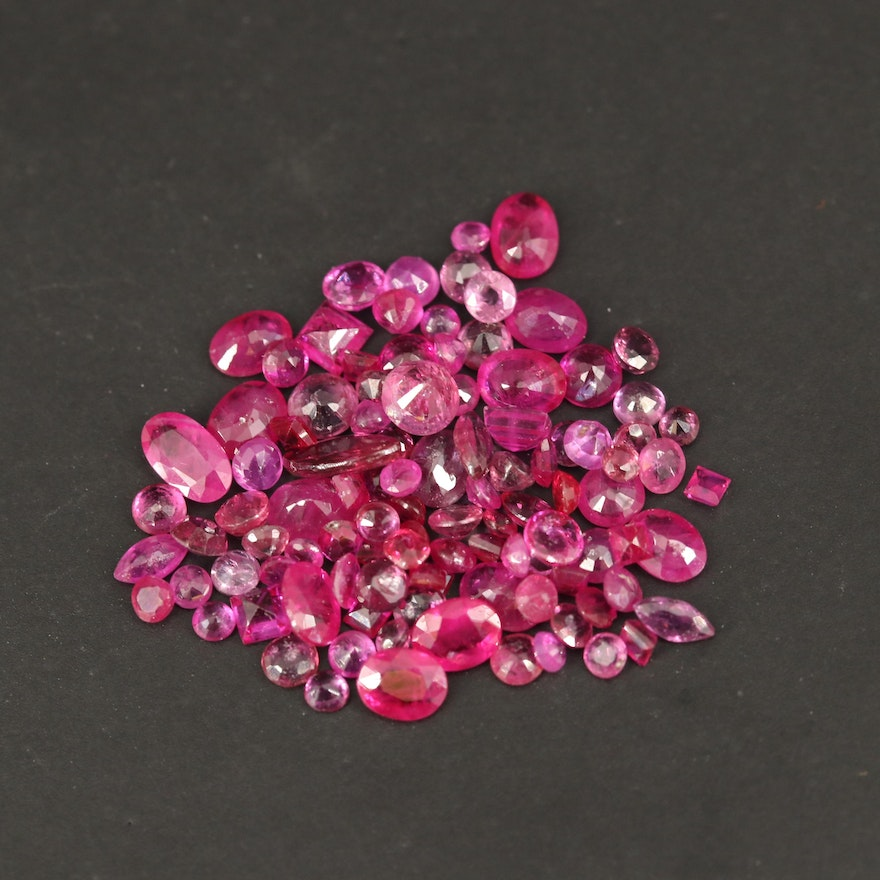 Loose 9.56 CTW Faceted Rubies
