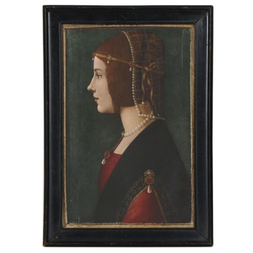 """Giclée after Ambrogio de Predis """"Portrait of a Lady"""""""