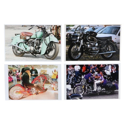 Jerry Irwin Offset Lithographs of Motorcycles Featuring ZZ Top's Billy Gibbons